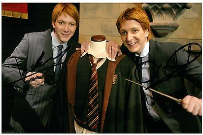 James & Oliver Phelps Hand Signed 6x4 Photo Harry Potter Twins Autograph + COA
