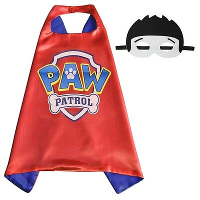 Paw Patrol Cape & Mask Costume Dress Up Kids Party/ Birthday Gift