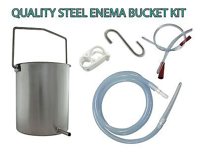 Quality Stainless Steel Enema Bucket - Water - Coffee - Reusable - Australia