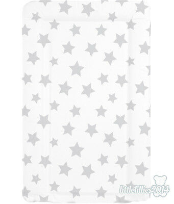 Brand New Soft Padded Deluxe Large Baby Changing Mat - White with Grey Stars