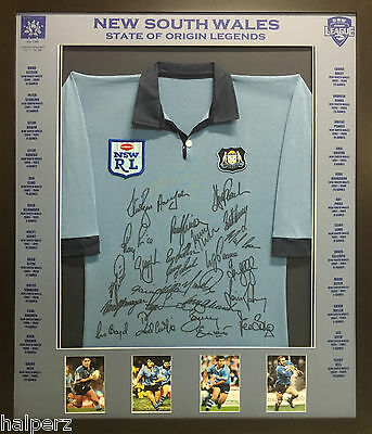 Blazed In Glory - New South Wales Legends - NRL Signed and Framed Jersey