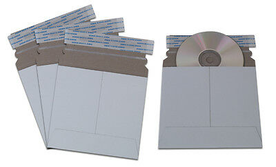 50 x CD DVD MAILERS STRONG CARDBOARD CARD SLEEVES ENVELOPES