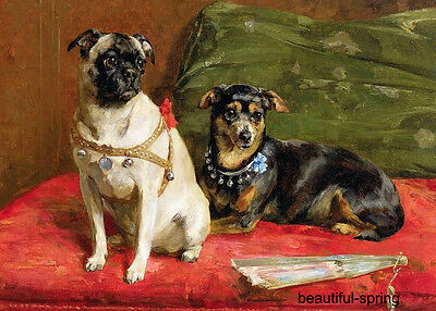 """impressionism  oil painting:Animals   Family pet dog     24x36"""""""