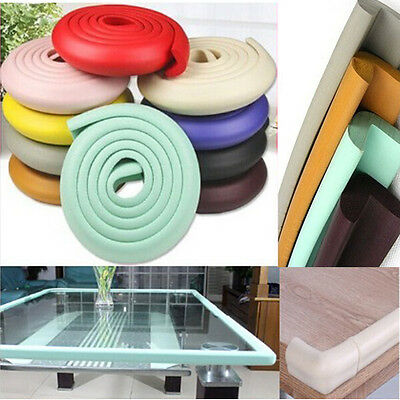 1*2M Baby Table Edge Corner Guard Protector Foam Bumper Collision Cushion Strip