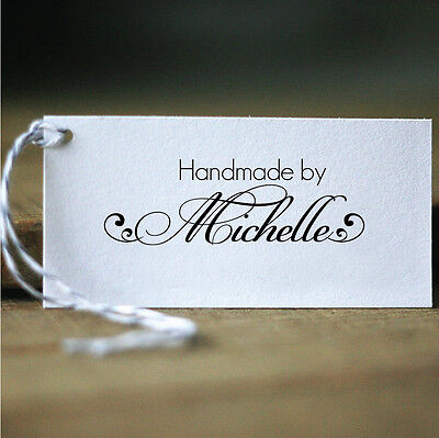 Personalized Custom Name Handle Mounted Handmade Created by Rubber Stamp RE675