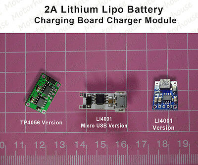 2A 3.7v Lipo Lithium Battery 18650 Charging Board Micro USB LED Charger Module