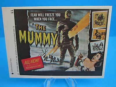 """VINTAGE 1980's TOPPS MONSTER MOVIE STICKER / DECAL ( """"THE MUMMY"""" )  CARD  #11"""