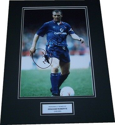 Graham Roberts - Chelsea Signed Photo Double Mounted