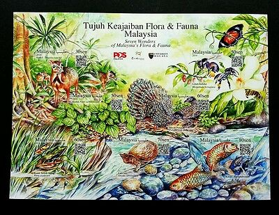 Malaysia 7 Wonders Of Flora & Fauna 2016 Bee (sheetlet) MNH *adhesive *unusual