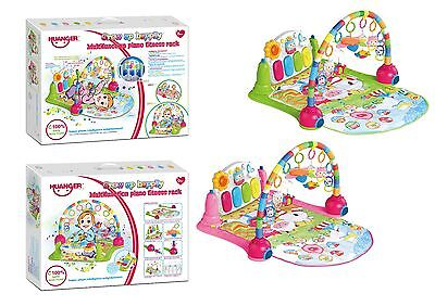 Baby Piano Beach Tropical Gym Kick, Lay & Play Baby Toddler Fitness Playmat UK