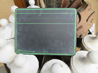 "VINTAGE school house masonite chalkboard writing tablet 11.75"" x 9 1/8"""