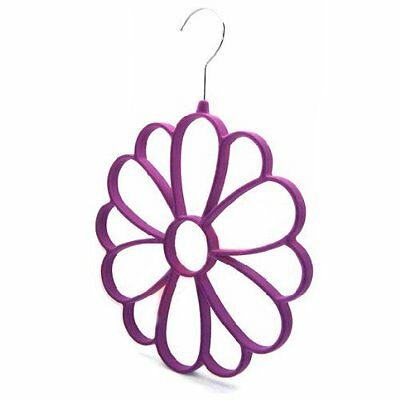 Soft Scarf Hanger/Organizer for Closet Protect Scarves (Purple) T1