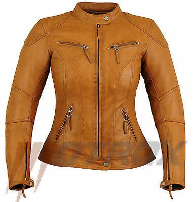 Ladies Motorbike Motorcycle Motrox Leather Jacket With Ce Armour Fashion Jacket