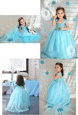 Frozen - Vestiti Carnevale Elsa 2-9 Y anni - Dress up Elsa Costumes