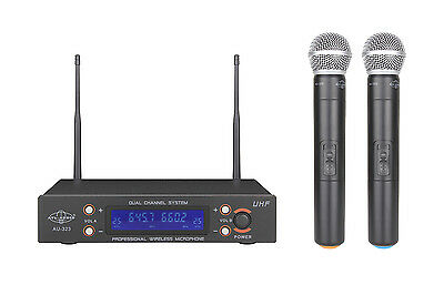 Dual Channel UHF Wireless Handheld Microphone System ATL-AUDIO AU-323