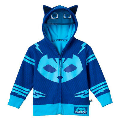 Toddler Boy's Animated Show PJ Masks Catboy Blue Zip-Up Costume Hoodie