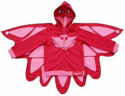Toddler Girl's TV Show PJ Masks Owlette Pink Zip-Up Costume Hoodie With Cape