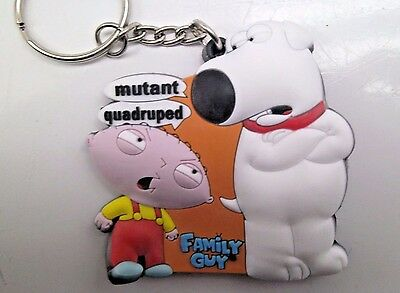 Family Guy KeyChain Stewie and Brian Key Ring Mutant Quadruped 2006 Rubber SV