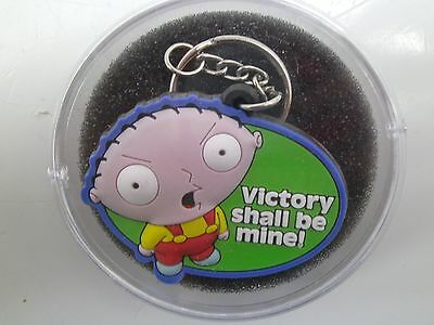 NEW! Family Guy STEWIE Bendable Rubber RARE Keychain VICTORY SHALL BE MINE! SV