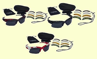 CHEX Europa Cricket Sunglasses Sports Glasses 5 Different Interchangeable Lenses
