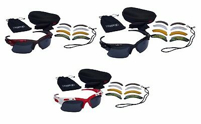 CHEX Europa Hunting Sunglasses Sports Glasses 5 Different Interchangeable Lenses
