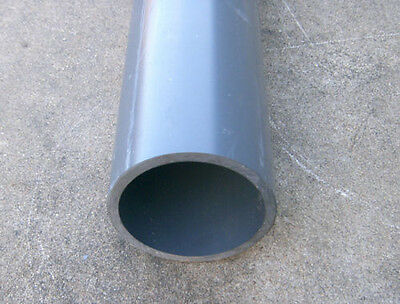 "6 Inch PVC Pipe 6 in x 1 ft Schedule 80 S80 (1 Foot Sections) 6"" x 1 foot"