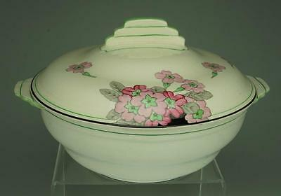 Antique Crown Devon Fieldings Covered Vegetable Dish Made in England VA121