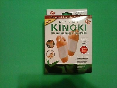 10 Detox Cleansing Foot Pads And Patches In Box...kinoki....as Seen On Tv!