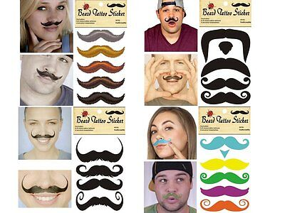 Christmas Masquerade Party Beard Mustache Temporary Tattoo Removable Stickers