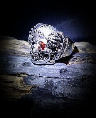 Voodoo Skull Ring Mens Mighty Protector Shango Remove Curse Super Wealth Totem