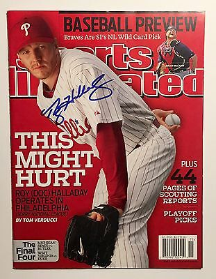 Roy Halladay April 5, 2010 Sports Illustrated Signed Autographed COA