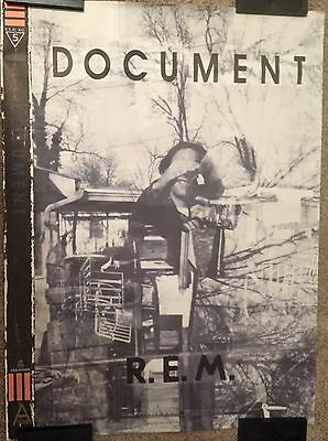 1987 REM Document Allied No. 5 International Record Store Promo Poster Vintage