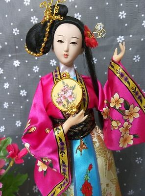 Chinese Ancient Twelve Kimling Kimono Beauty Belle Doll Girl Figurine-Qin Keqin