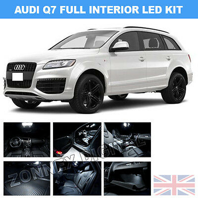 INTERIOR CEILING LED SMD Bulbs KIT WHITE CAN BUS fit AUDI Q7 2010