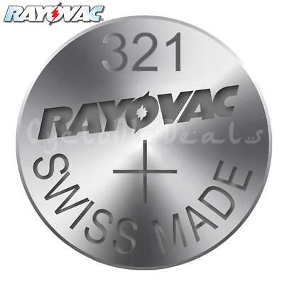 RAYOVAC 321 SR616SW Lithium Battery Swiss Watch Silver Oxide Cell 1.55V X 1,5,10
