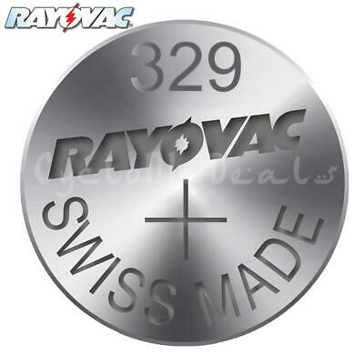 RAYOVAC 329 SR731SW Lithium Battery Swiss Watch Silver Oxide Cell 1.55V X 1,5,10