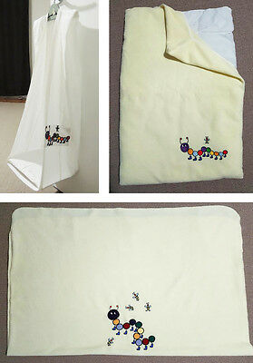 Baby Caterpillar Nappy Stacker, Cot Blanket, Change Table Cushion & Cover. Set