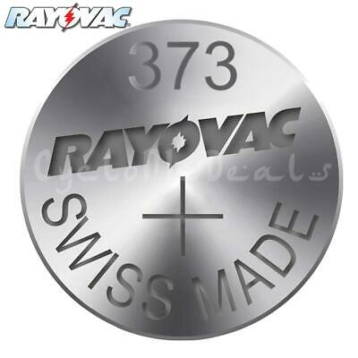 RAYOVAC 373 SR916SW Lithium Battery Swiss Watch Silver Oxide Cell 1.55V X 1,5,10