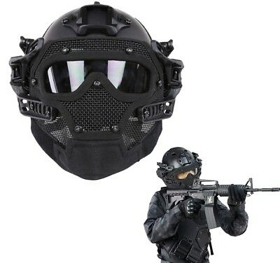Military Tactical Combat Helmet Mask Goggles G4 System Paintball Airsoft Guard