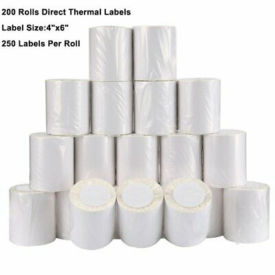200 Rolls 4x6 250/Roll Direct Thermal Shipping Labels Zebra ZP450 2844 Wholesale