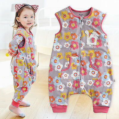 "Vaenait Baby Toddler Kids Girls Clothes Cotton Sleepsack ""Daisy Cat"" 1T-7T"