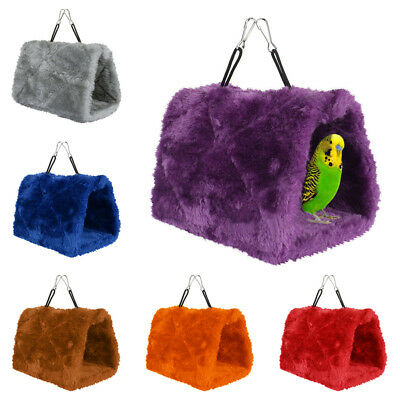 Plush Hut Hammock Hanging Cave Cage Snug Hut Tent Bed Bird Parrot Conure Toy BGO