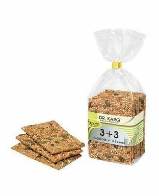 Dr Karg Org Wholegrain Crispbread 3+3 200g (Pack of 8)