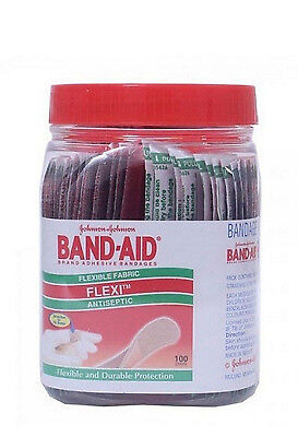 Johnson & Johnson BAND-AID First AID Flexible Fabric Bandage 100+ 30 Strips Free