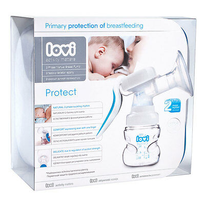 New Lovi 2 phase Manual Breast pump for comfortable expressing of breast milk