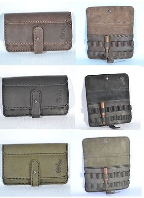 Real Leather Rifle Ammo Shell Cartridge Belt Holder - Holds 8 rounds