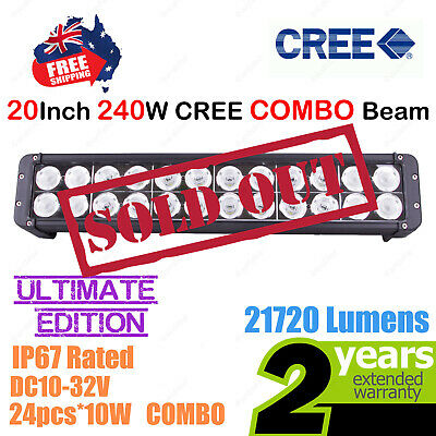 20inch 240W CREE LED Light Bar High Output Ultimate Edition Double Row COMBO