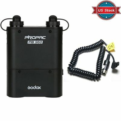 US Godox PB960 Power Battery Pack 4500mAh + CX Power Cable For Canon Speedlite