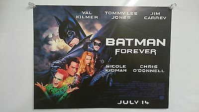 Batman Forever (1995) Val Kilmer Jim Carrey UK Mini Poster Original