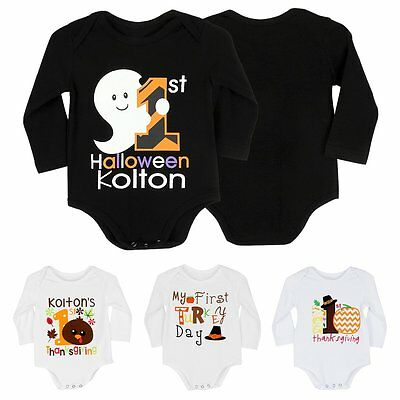 newborn infant baby boy girl halloween romper jumpsuit bodysuit clothes outfits